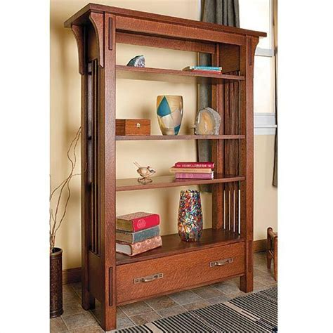 Arts-And-Crafts-Bookcase-Plans