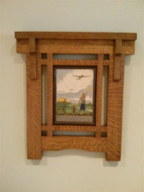 Arts-And-Crafts-Style-Picture-Frame-Plans