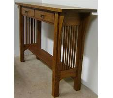 Best Arts and crafts sofa table plans