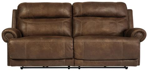 Ashley Austere 2 Seat Reclining Power Sofa Brown