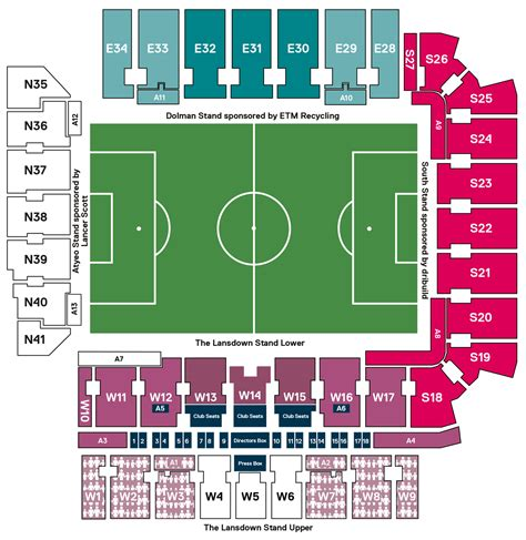 Ashton Gate West Stand Seating Plan