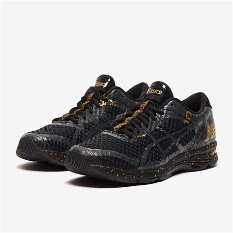 Asics Black And Gold Sneakers