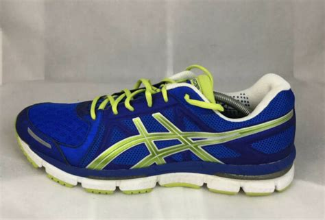 Asics Mens Royal Blue And Lime Sneakers