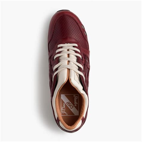 Asics Tiger Gel-lyte Iii Oxblood Leather Sneakers