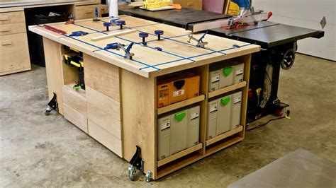 Assembly Table Plans Woodworking With T Track Table Saw
