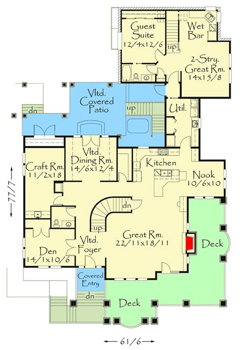 Attached Guest House Floor Plans