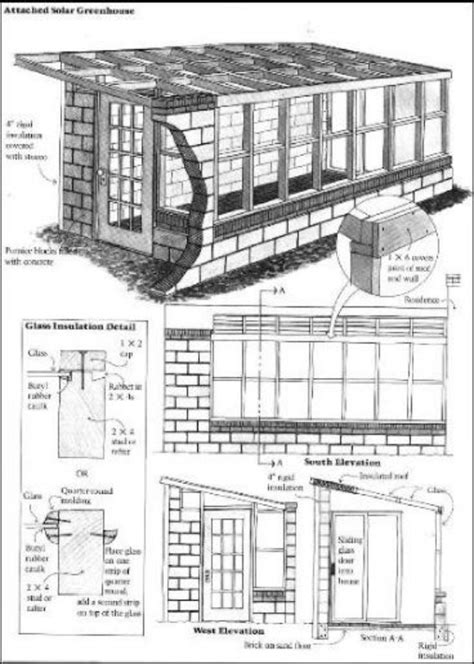 Attached-Greenhouse-Plans-Free