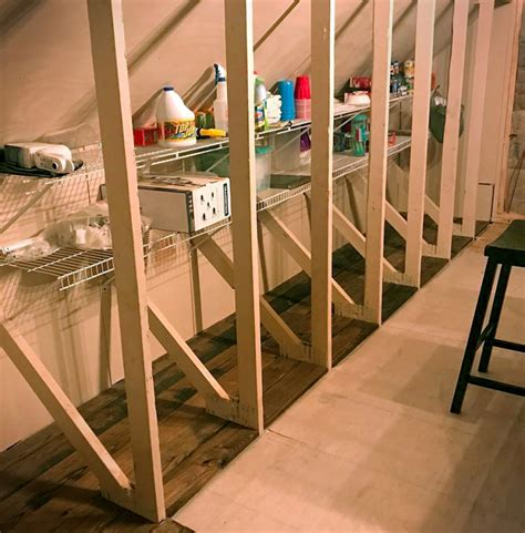 Attic Storage Shelving Ideas