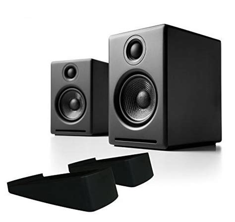 Audioengine A2+ Powered Desktop Speaker Package (Black) With DS1 Desktop Speaker Stands Bundle