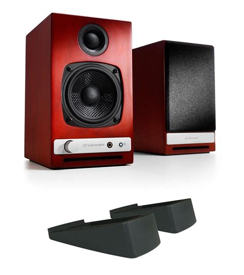 Audioengine HD3 Powered Bookshelf Speakers (Pair), Black with DS1 Desktop Stand (Pair)