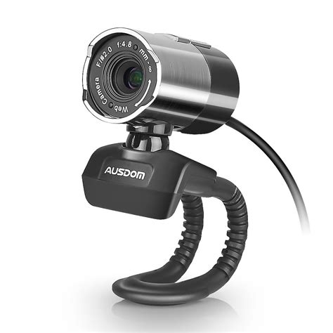Ausdom Web Camera Full HD 1080P Webcam with Microphone Video Calling and Recording for Computer Laptop Desktop 360-Degree Swivel, PC Cam,Plug and Play, Web Cam