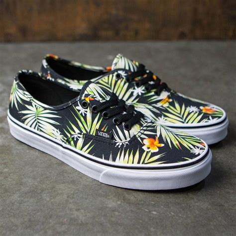 Authentic (Decay Palms) Black/True White Skate Shoe