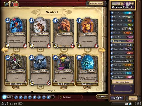 Auto Build Deck Hearthstone