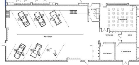 Auto Shop Floor Plan