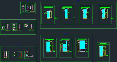 Autocad Shower Door Plan