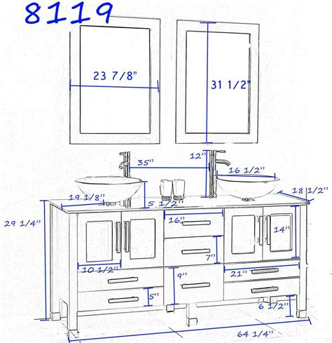 Average Cabinet Height With Vessel Sink