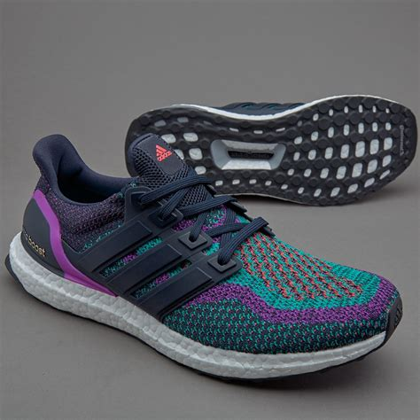 BB3908 Men's Ultra Boost Running Shoes, Navy/Navy Night/Shock Purple
