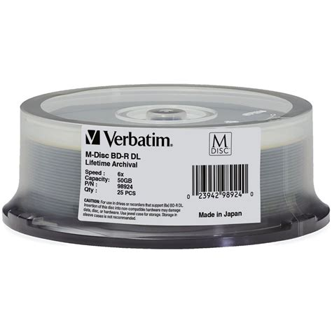 BD-R DL 50GB 6X, 25 pack