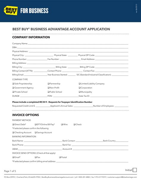[pdf] Best Buy Business Advantage Account Application.