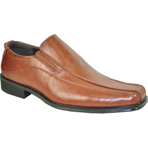 BRAVO Men Dress Shoe MONACO-1 Classic Loafer with Square Bicycle Toe and Leather Lining