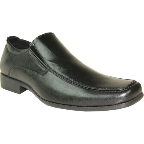 BRAVO Men Dress Shoe MONACO-2 Classic Loafer with Square Moc Toe and Leather Lining