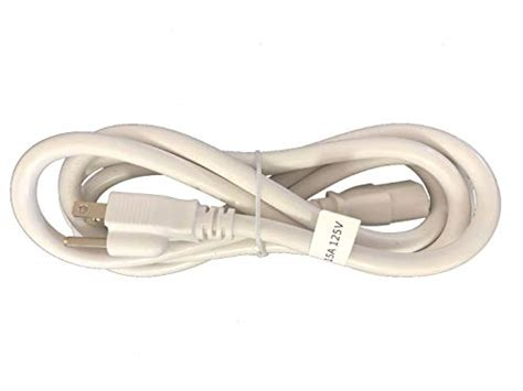BYBON 18 AWG SJT Universal Power Cord NEMA 5-15P to C13, For Computer/Printer (White or Black) UL listed (10 PACK, WHITE)