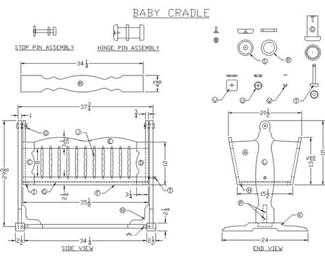 Baby Cradle Plans Dimensions For Carry