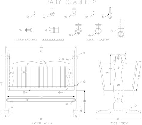Baby Cradle Plans Dimensions Of Health