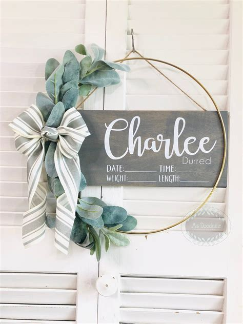Baby Ribbon Hospital Door Hanger Diy