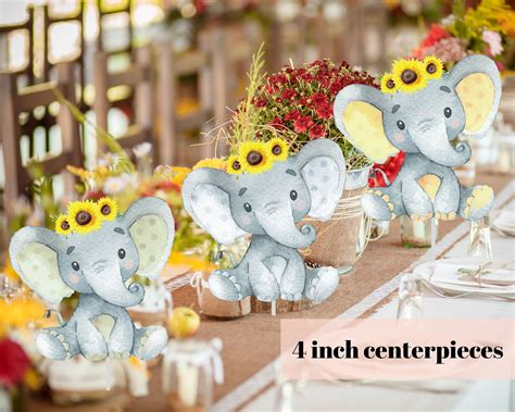 Baby Shower Photo Frame With Elephant Ideas