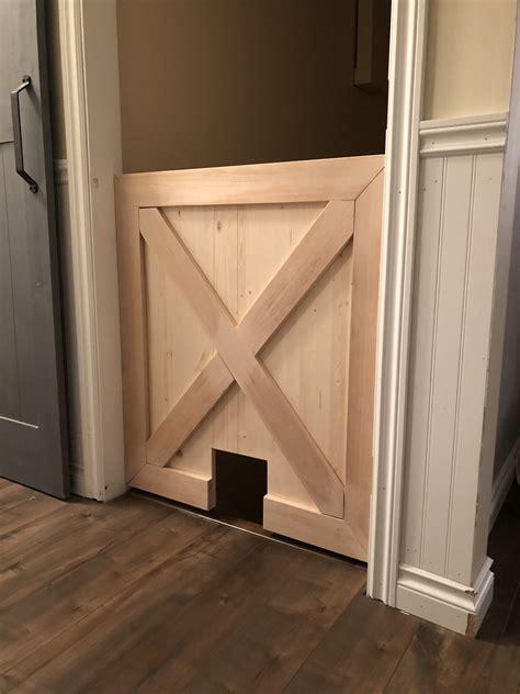 Baby-Gate-With-Cat-Door-Diy