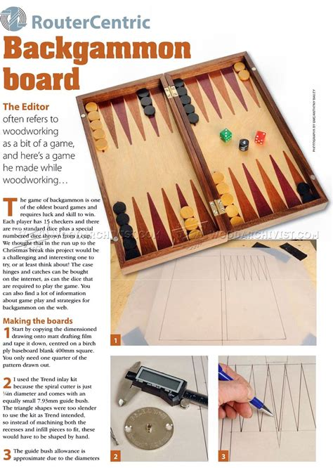 Backgammon Board Woodworking Plans