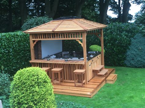 Backyard Plans With Hot Tub Sidewalk Gazebo