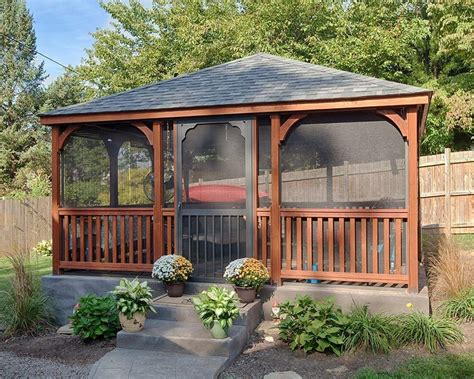 Backyard Rectangular Gazebo Plans