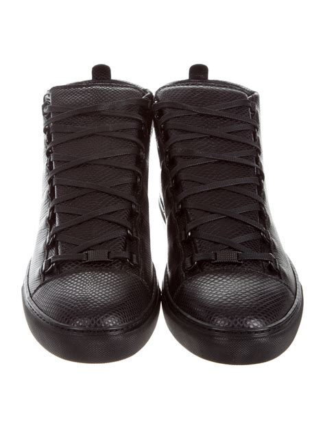 Balenciaga Arena Embossed Leather Sneakers