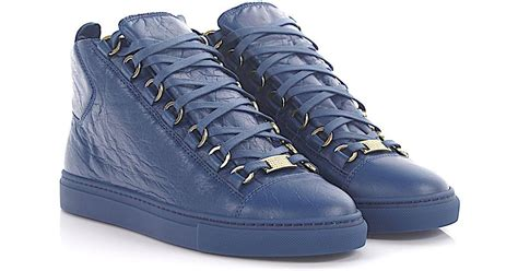 Balenciaga Arena High Sneakers Blue