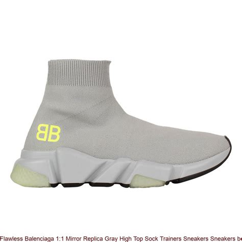 Balenciaga Grey Sock High Top Sneakers