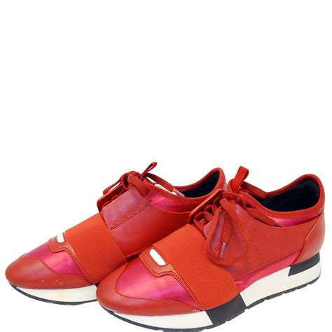 Balenciaga Low Top Sneakers Red