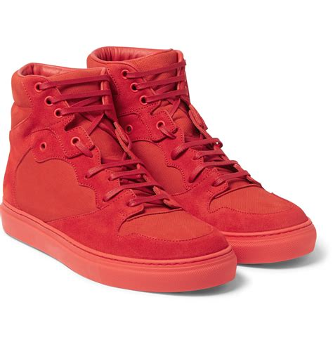Balenciaga Panelled Suede Sneakers