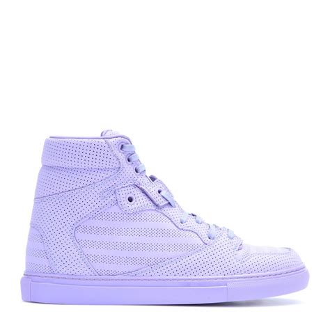 Balenciaga Perforated Leather High Top Sneakers