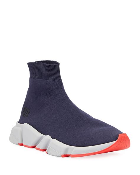 Balenciaga Speed Mid Top Trainer Sock Sneaker