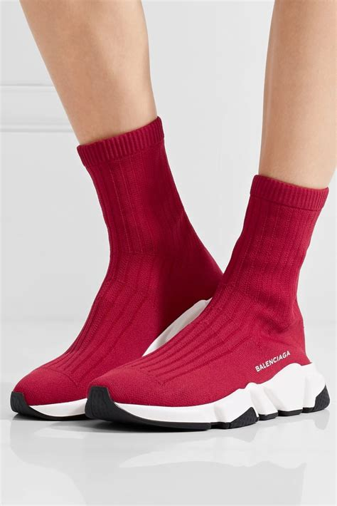 Balenciaga Speed Stretch Knit High Top Sneakers