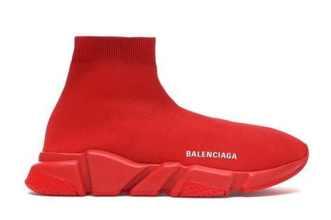 Balenciaga Trainer Sneakers With Red