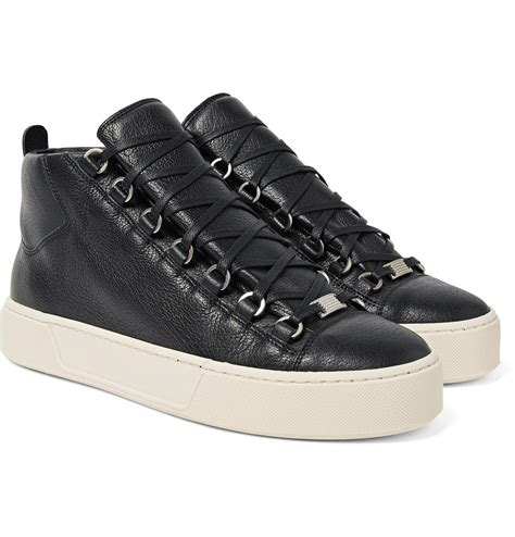 Balenciaga White Grained Lambskin Arena High-top Sneakers