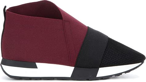 Balenciaga Women's Burgundy Synthetic Fibers Slip On Sneakers