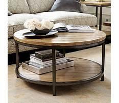 Best Ballard design round coffee table