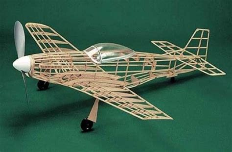 Balsa Plane Kit P 51 Mustang Wooden Model Kit