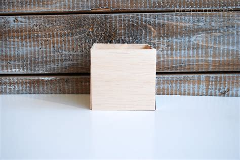 Balsa Wood Box Diy