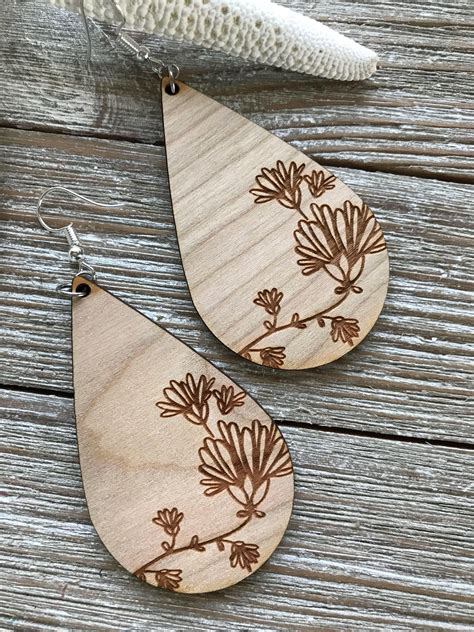 Balsa Wood Earrings Diy