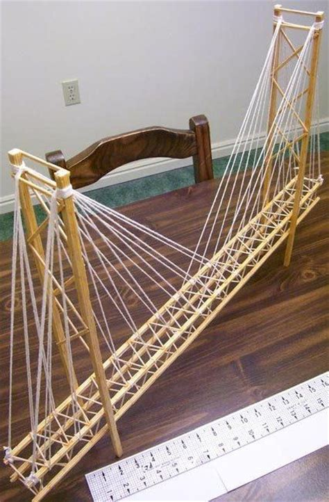 Balsa Wood Suspension Bridge Project